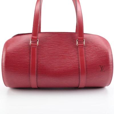 Louis Vuitton Soufflot Handbag in Castillan Red Epi Leather