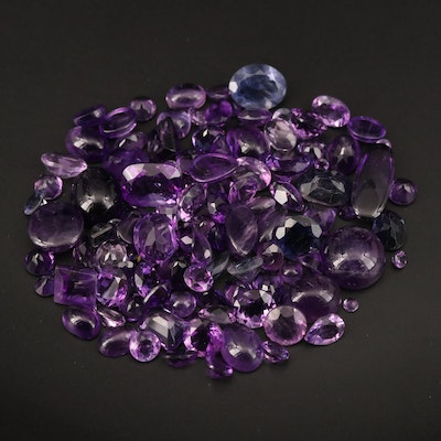 Loose 98.98 CTW Mixed Cut Amethyst and Iolite