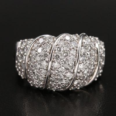 14K 2.00 CTW Diamond Multi-Row Ring