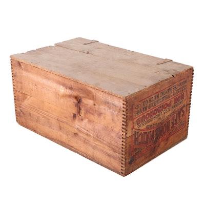 "Diamond Match Co. ""Safe Home Match"" Wood Crate, 20th Century"