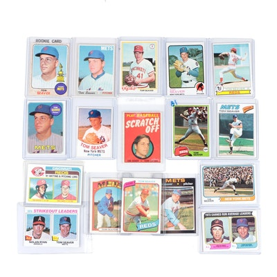 1968-1982 Topps Tom Seaver and Others Baseball Cards Including Rookie Card