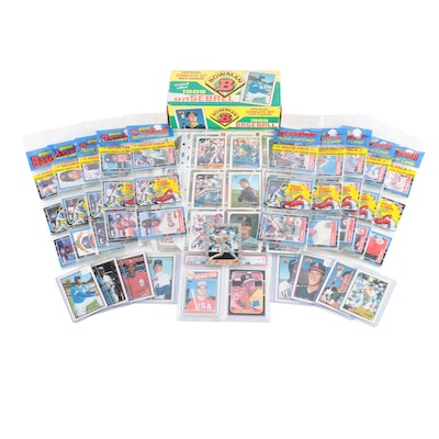 Mark McGwire Graded Rookie Cards, Griffey Rookie, Topps, Donruss, Bowman Cards