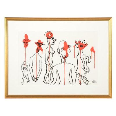 """Alexander Calder Double-Page Color Lithograph for """"Derrière le Miroir,"""" 1966"""