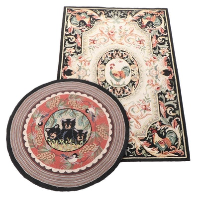 Hand-Hooked Claire Murray and Safavieh Pictorial Accent and Area Rugs