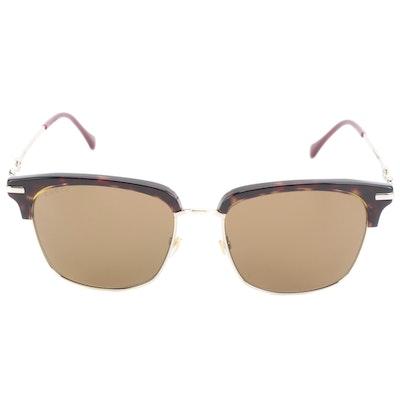 Gucci GG0918S Havana Horn-Rimmed Sunglasses