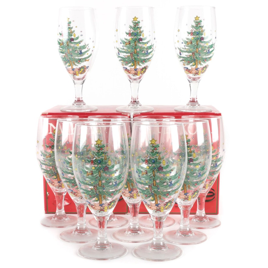 """Nikko """"Christmastime"""" Stemmed Glass Drinkware"""