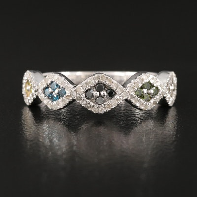 Sterling 0.52 CTW Diamond Cluster Band