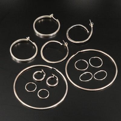 Sterling Hoop Earrings with RLM Studio