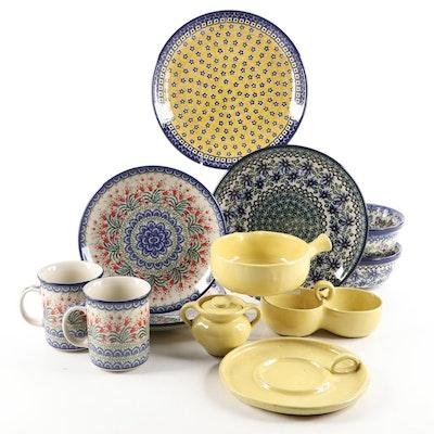 Cornelison Bybee Pottery Tableware with Polish Bolesławiec Pottery Dinnerware