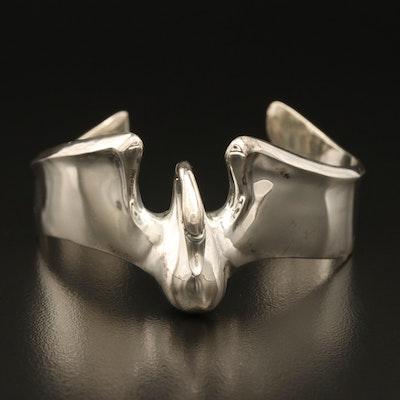Sterling Silver Swan Cuff