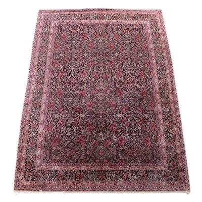 8'7 x 12' Machine Made Persian Qazvin Style Room Sized Rug