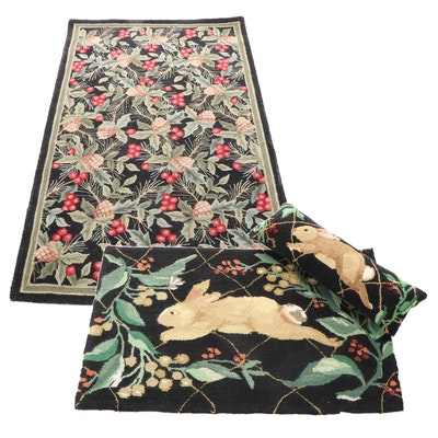 """Hand-Tufted Safavieh """"Chelsea"""" Collection Rug, with Rabbit Motif Rug and Pillow"""