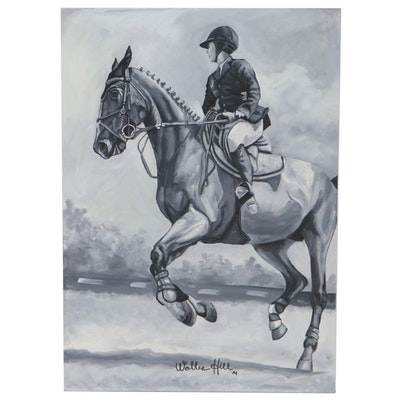 Walter Hill Oil Painting of Equestrian, 2021