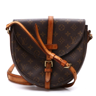 Louis Vuitton Paris Chantilly MM Crossbody Bag in Monogram Canvas with Leather