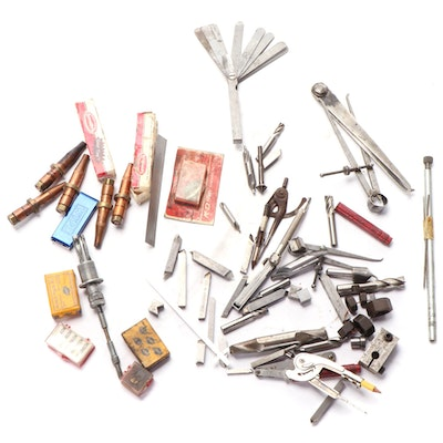 Torch Welding Tips, Machinist, Drafting, Tap and Die, and Other Assorted Tools