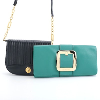 Anne Klein Leather Crossbody and MICHAEL Michael Kors Grained Leather Clutch