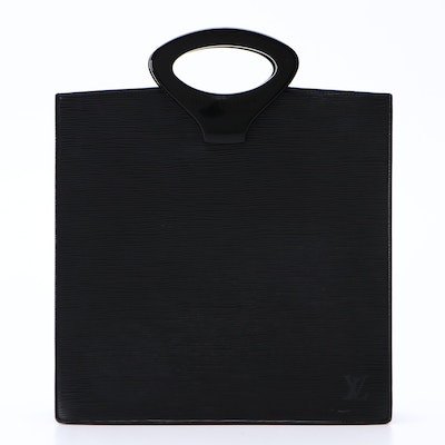 Louis Vuitton Ombre Tote Bag in Black Epi Leather