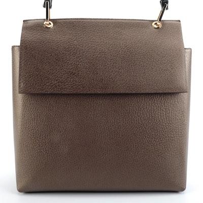 Gucci Handbag in Medium Brown with Black Bamboo Handle
