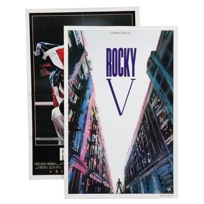 """Theatrical Release Posters for """"Rocky IV"""" and """"Rocky V"""""""