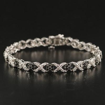 14K 1.57 CTW Diamond 'XO' Link Bracelet