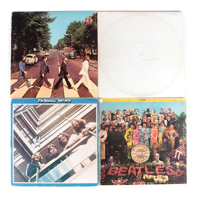 """The Beatles """"Abbey Road"""", """"The Beatles 1967-1970"""", and Other Vinyl LP Records"""