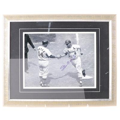 Stan Musial Signed Framed Photo Print, ALOA