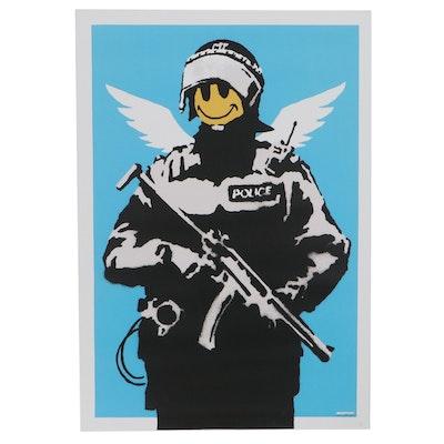 "Giclée After Banksy ""Smiley Trooper,"" 21st Century"