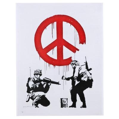 """Giclée After Banksy """"Peace,"""" 21st Century"""