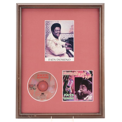 Fats Domino Signed and Framed Photo Print with CD