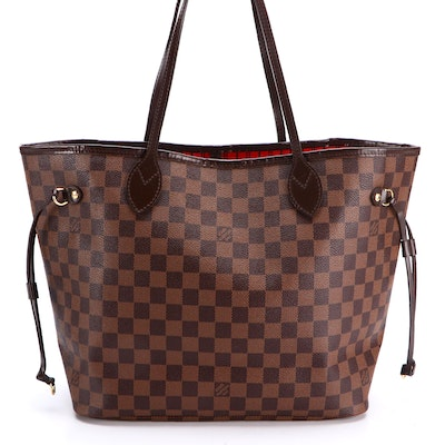 Louis Vuitton Neverfull Tote MM in Damier Ebene Canvas and Leather