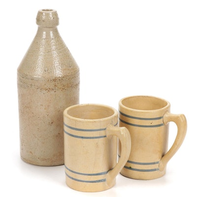 Buckeye Root Beer Mugs and John Howell Jug
