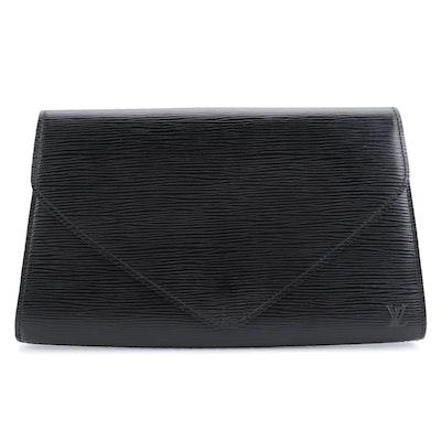 Louis Vuitton Art Deco Clutch in Noir Epi Leather