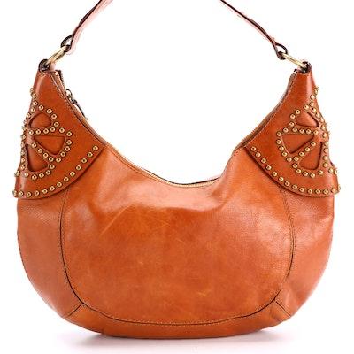 MICHAEL Michael Kors Large Studded Leather Hobo Bag