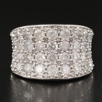 10K 2.98 CTW Diamond Saddle Ring