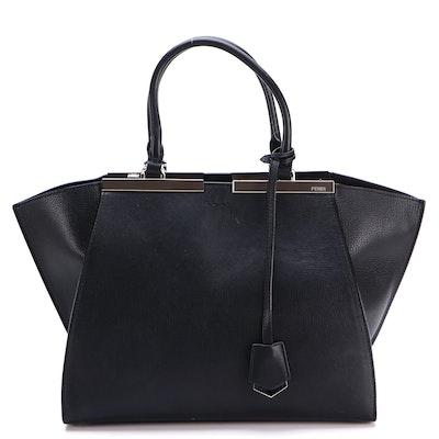 Fendi Petite 3Jours Handbag in Black Leather