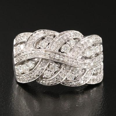 14K 1.33 CTW Diamond Openwork Swirl Ring
