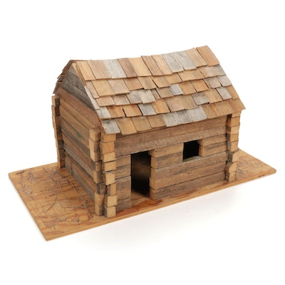 Rustic Handcrafted Log Cabin Doll House