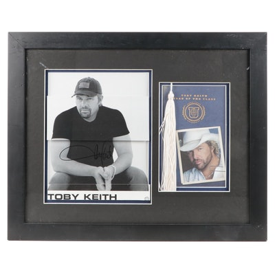 Toby Keith Signed and Framed Publicity Photo