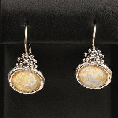 Michael Dawkins Sterling Quartz Mother of Pearl Doublet Earrings