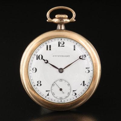 Swiss Stuyvesant Gold Filled Pocket Watch