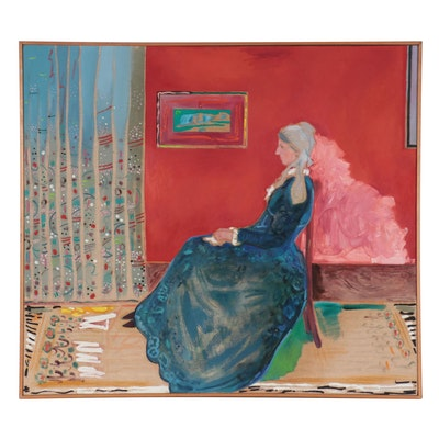 Philip the Transplant Acrylic Painting After James Abbott McNeill Whistler
