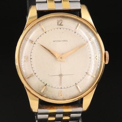 18K International Watch Co. Wristwatch, Circa 1930's