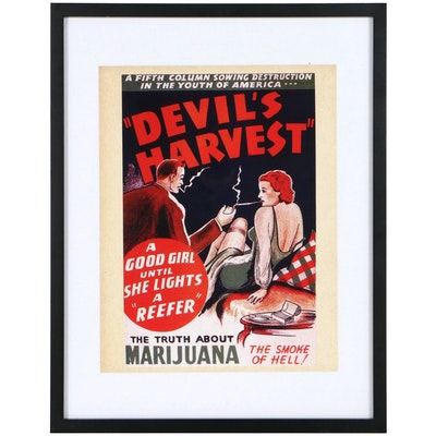 "Offset Lithograph Poster ""Devil's Harvest"""