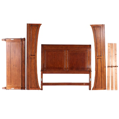 Liberty Furniture French Provincial Style Cherrywood Queen Size Bed Frame
