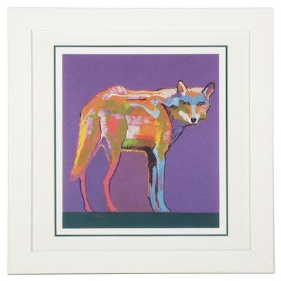 "John Nieto Serigraph ""Mexican Grey Wolf,"" 1996"