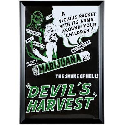 """Offset Lithograph After Film Poster """"Devil's Harvest"""""""