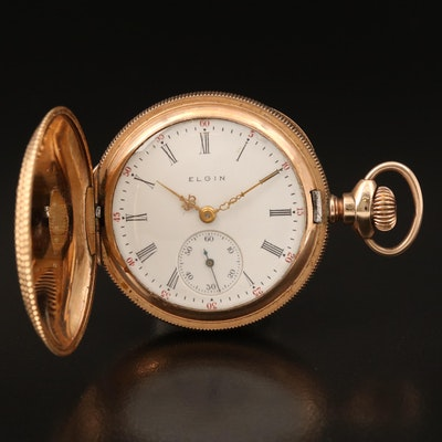 1905 Elgin Gold-Filled Hunting Case Pocket Watch