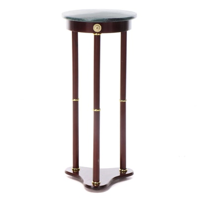 Neoclassical Style Marble Top Plant Stand