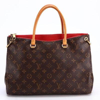 Louis Vuitton Pallas BB Handbag in Monogram Canvas and Vachetta Leather