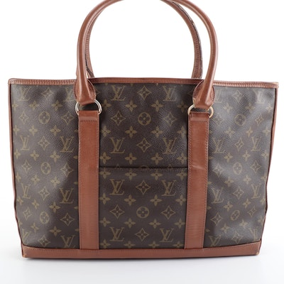 Louis Vuitton Sac Weekend PM Tote in Monogram Canvas with Leather